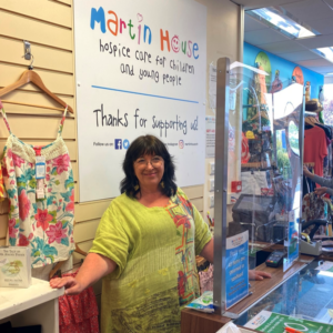 A volunteer at the Martin house children's charity shop selby