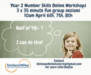 Smiles & Miles Easter sessions poster