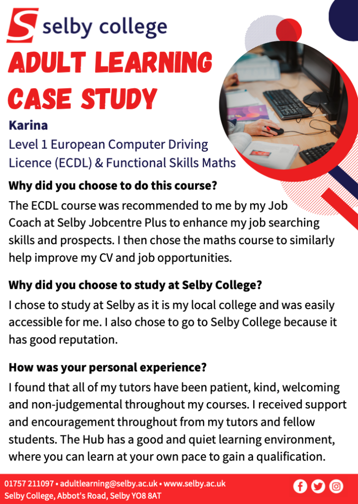 Selby College case studies